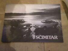 Reliant Scimitar GTE & GTC fold out Sales Brochure & Price List October 1982 #2
