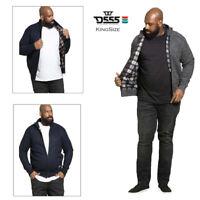 D555 Mens King Size Braxton Zip Up Sweater Big Tall Funnel Neck Winter Jumper