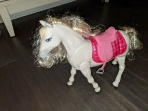 BARBIE~INTERACTIVE DREAM HORSE~WALK DANCE horseback riding~touch VOICE activated