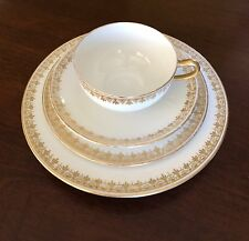 Theodore Haviland Limoges Exquisite Gold Trim 4 Piece Set