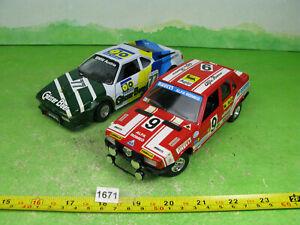 vintage Bburago diecast cars x2 1/24 bmw m1 & alfa romeo collectable models 1671