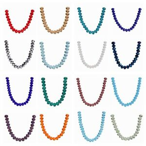 500Pcs Faceted bead Crystal Glass Rondelle Loose Spacer Beads Jewelry Making 4mm