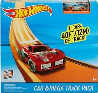 Hot Wheels Car and Stunt Mega Track Pack Builder Playset 40 Feet