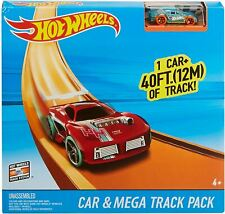Hot Wheels Car and Stunt Mega Track Pack Builder Playset 40 Feet