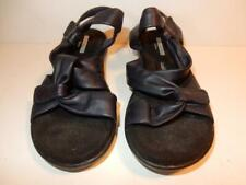 COLLECTION BY CLARK'S BLACK LEATHER SANDALS SHOES SIZE 5.5 M LADIES