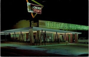 Postcard Blount's Restaurant and Cafeteria in Carlsbad, New Mexico~4126