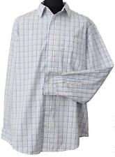 George - Mens Big & Tall Long Sleeve Blue/Yellow Check Shirt 2 XL