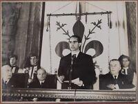FOTOGRAFIA MINISTRO EMILIO COLOMBO INAUGURAZIONE ACCADEMIA DEI GEORGOFILI 1958