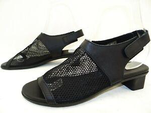Arche Obilly Sandalen Sandaletten Sommer Damen Schuhe Leder Gr.40 Schwarz