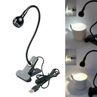 USB Reading Light Flexible LED Lamp Laptop Computer Clip On Bed Desk Table