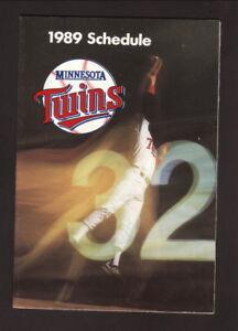 Minnesota Twins--1989 Pocket Schedule--SuperAmerica