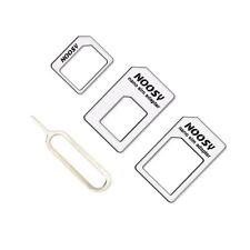 ADAPTADOR DE TARJETAS SIM DE SMARTPHONE PACK 4 EN 1 NANO SIM A MICRO Y ESTANDAR
