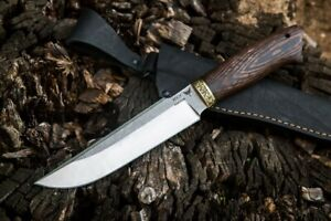"""Russia Hunting Knife """"Scorpio"""" Forged Stainless Steel Wenge Brass Handmade"""