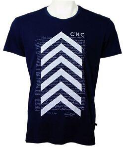 C'N'C (Costume National) script print regular fit tee navy