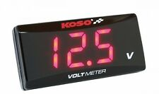 New KOSO LED Display Super Slim Voltmeter Volt Meter 8 to 18V- Red -Free Shiping