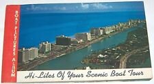 Hi-Lites of Your Scenic Boat Tour *Miami Beach*  postcards  Biscayne Bay  70's