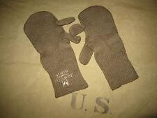 ORIGINALE US ARMY IN LANA GUANTI GLOVES m-1948 trigger dita taglia L ww2 wk2 WWII