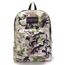 Jansport Backpack Superbreak Pesto Green Multi Spread Camo Skate School Bag