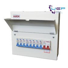 Metal Consumer Unit 100a Main Switch 8 Usable Way c/W 8 x RCBOs Amendment 3