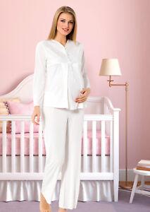 Damen Pyjama / Schlafanzug für Schwangerschaft & Stillzeit STILLPYJAMA pijama