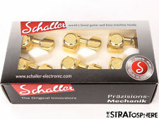 NEW Schaller 6 In Line LOCKING 2 PIN TUNERS for Fender Standard Strat Tele Gold