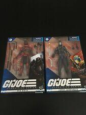 GI JOE Classified Series Set of 2. Red Ninja & Cobra Commander. Never Opened
