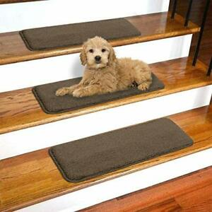 Ottomanson SST Softy Stair TREADS 13 Pack Brown 13 Count