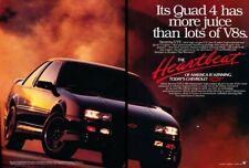 1990 Chevrolet Beretta GTZ Original 2-page Advertisement Print Art Car Ad D218