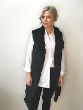 LUCY BLACK RABBIT FUR LONGLINE VEST - NEW STOCK AND GREAT LAYERING PIECE