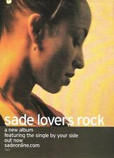 SADE Lovers Rock 2001 magazine ADVERT/Poster/clipping 10x8 inches