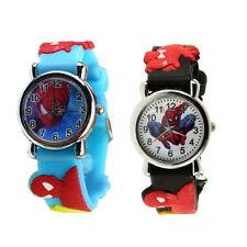 Spider Man NEWMarvel Cartoon Child Boys Kids Analog Quartz Wrist Watch Rubber OP
