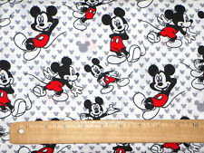 DISNEY MICKEY MOUSE FABRIC  TOTALLY MICKEY TOSS 100% COTTON QUILTING BY THE YARD