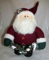 Santa Figure Doll Greeter Door Stop Country Primitive Christmas Holiday Decor