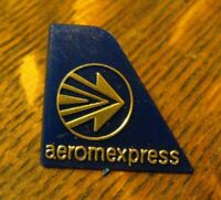 AeroMexPress Lapel Pin - Vintage Mexican Cargo Airline Airplane Tail Logo Badge
