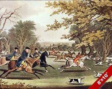 ROYAL FOX HUNT WINDSOR PARK FOXHUNTING HUNTING HORSE ART PAINTING CANVAS PRINT