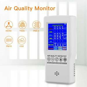 Digital LCD Display Air Quality Monitor PM2.5 CO2 HCHO Detector for Home Bedroom