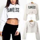 Sexy Women FLAWLESS Crop Hoodie Sweatshirt Jumper Sweater Pullover Tops Coat