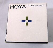 Vintage Hoya Close-up Set 52mm Filter Kit +1,2,4  In Original Box /Carrying Case