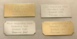 Engraved Award Picture Trophy Plate/Plaque Gold/Silver Many Sizes Trophies