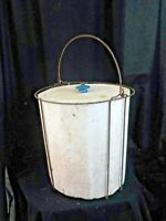 Antique Vintage Ideal Wire Framed Styrofoam Minnow Bucket w/Lid Fishing Bait #2