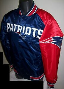 NEW ENGLAND PATRIOTS NFL STARTER Snap Down Jacket BLUE/RED 3X 4X 5X