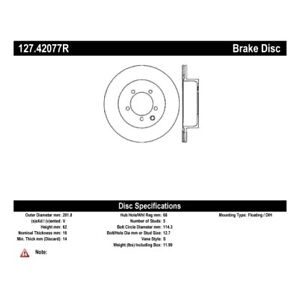 StopTech 127.42077R Sport Drilled & Slotted Brake Rotor For 14-17 Nissan Juke