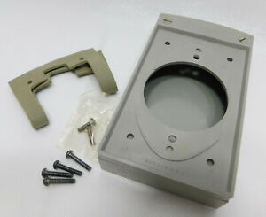 2 ea Bryant 63991 Gray Non-Metallic Outdoor Cover Plate for Single Receptacles