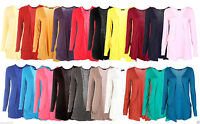 NEW WOMENS LADIES LONG SLEEVE DOUBLE POCKETED LOT BOYFRIEND CARDIGAN TOP S/M M/L