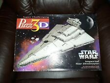 Vintage 1996 Puzz3D Star Wars Imperial Star Destroyer Puzzle, New In Box