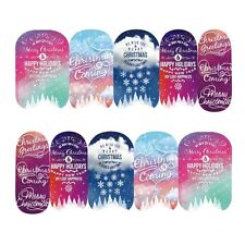 Nail Art Sticker Transfer Stickers Merry Christmas Happy Holidays (DS408)