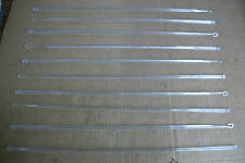 "Lot of 10 OPEN CLOSE 20"" Long ROD HOOKS for Blinds VENETIAN Clear Acrylic NEW"