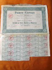 ACTION DE 100 Fr S.A. PARIS CONGO 1925