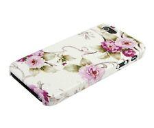 Schutzhülle f Apple iPhone SE 5S 5 5G Case Tasche Cover Flowers Blumen rosa