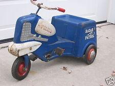 Decals for Vintage1955 Murray Police Radar Patrol Pedal Car, 9 decal set, Repro